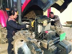铁岭:合作社检修农机忙备耕