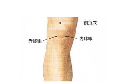 膝盖疼按摩哪里