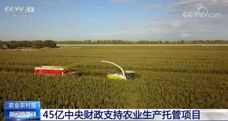 今年中央财政投入45亿元推动农业生产托管加速发展